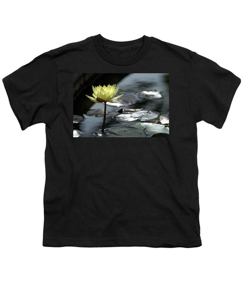 Water Lily And Silver Leaves Youth T-Shirt