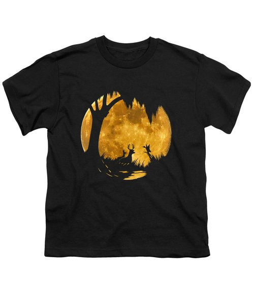 Wetland Wildlife Massive Moon .png Youth T-Shirt by Al Powell Photography USA