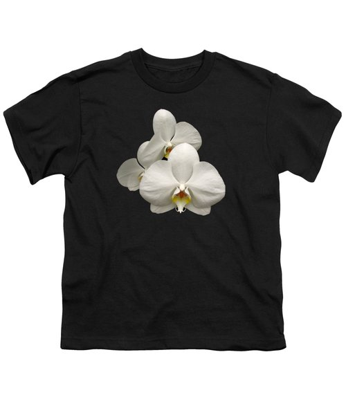 White Orchids Youth T-Shirt by Rose Santuci-Sofranko