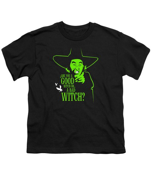 Wicked Witch Of West Youth T-Shirt by Mos Graphix
