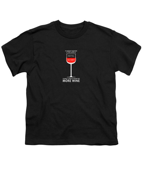 Wine Glasses 1 Youth T-Shirt by Mark Rogan