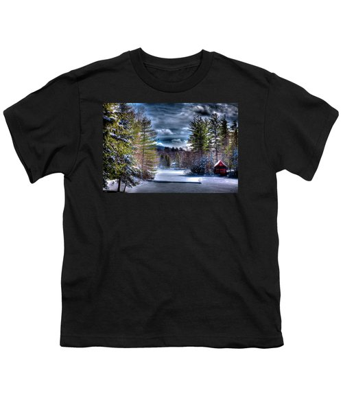 Youth T-Shirt featuring the photograph Winter At The Boathouse by David Patterson
