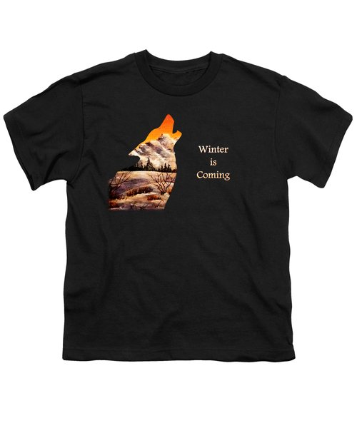 Winter Is Coming Youth T-Shirt