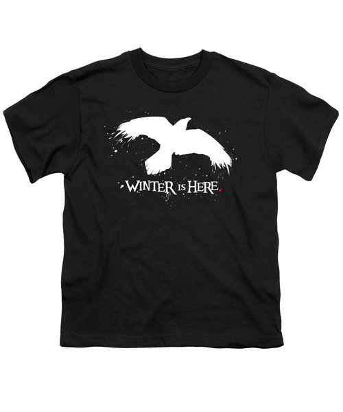 Winter Is Here - Large Raven Youth T-Shirt