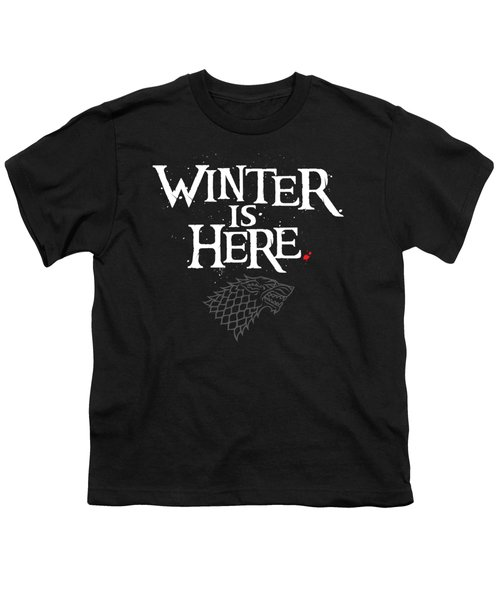 Winter Is Here - Stark Sigil Youth T-Shirt
