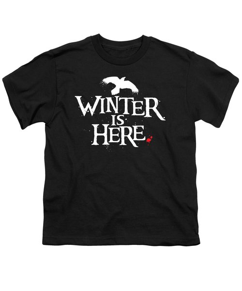 Winter Is Here - White Raven Youth T-Shirt