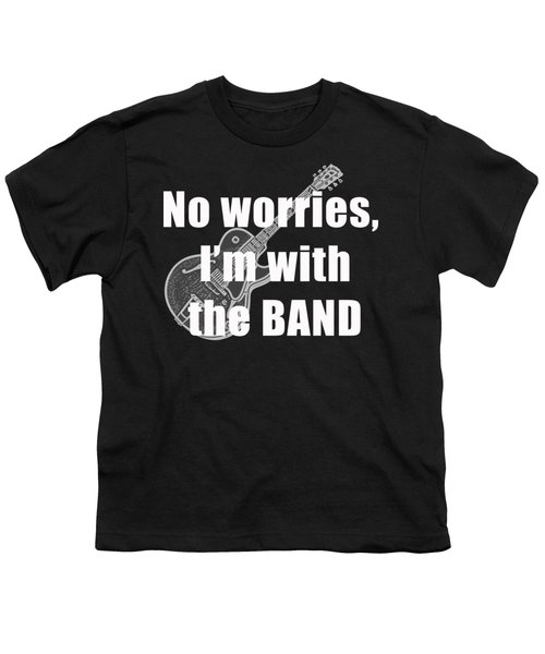 With The Band Tee Youth T-Shirt by Edward Fielding