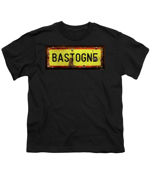 Wwii Bastogne Town Sign Youth T-Shirt