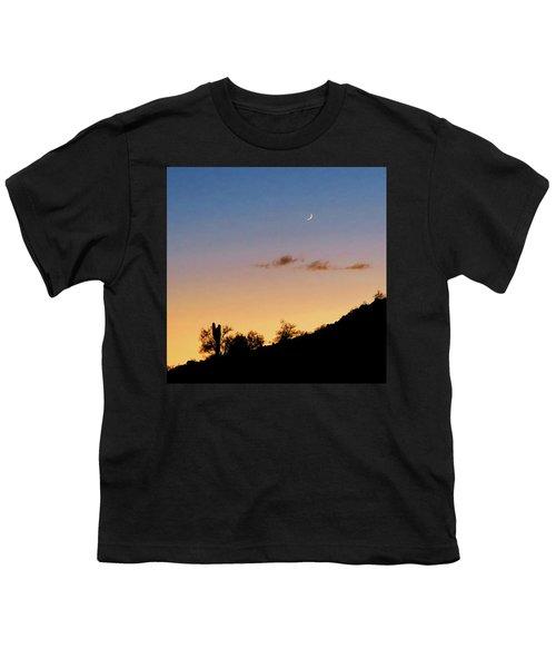Y Cactus Sunset Moonrise Youth T-Shirt