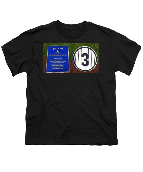 Yankee Legends Number 3 Youth T-Shirt by David Lee Thompson