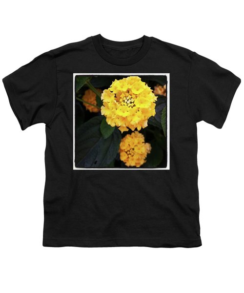 Youth T-Shirt featuring the photograph Yellow Lantanas Along The Scenic Drive by Mr Photojimsf