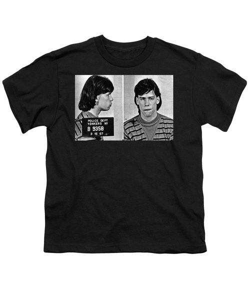 Young Steven Tyler Mug Shot 1963 Pencil Photograph Black And White Youth T-Shirt