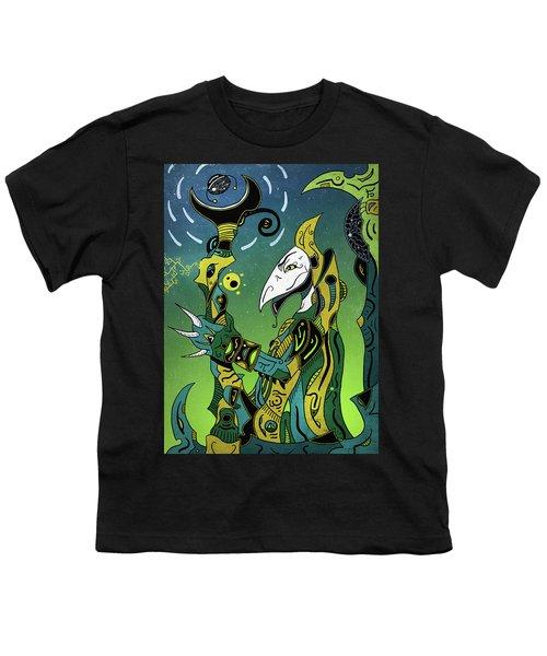 Youth T-Shirt featuring the digital art Birdman by Sotuland Art