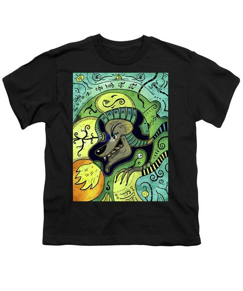 Youth T-Shirt featuring the digital art Anubis by Sotuland Art