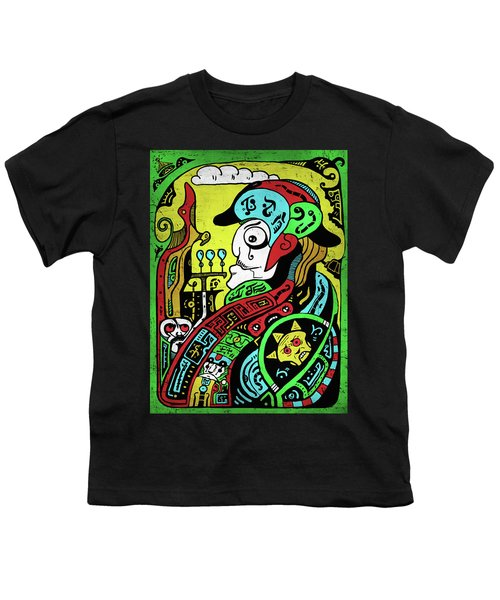 Youth T-Shirt featuring the digital art Emperor by Sotuland Art
