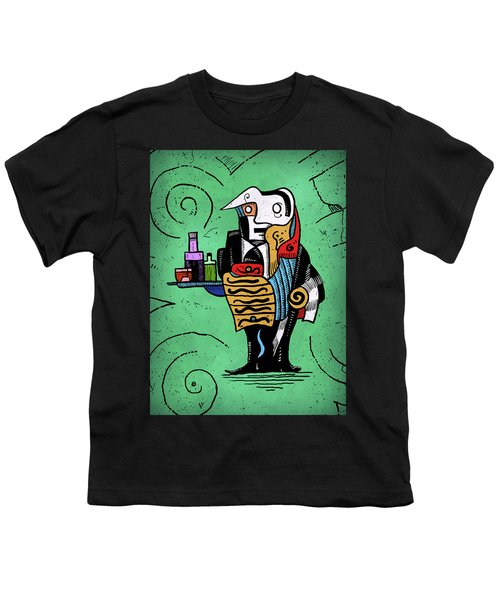Youth T-Shirt featuring the painting Absinthe by Sotuland Art