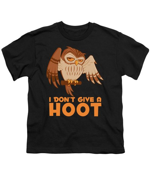 I Don't Give A Hoot Owl Youth T-Shirt