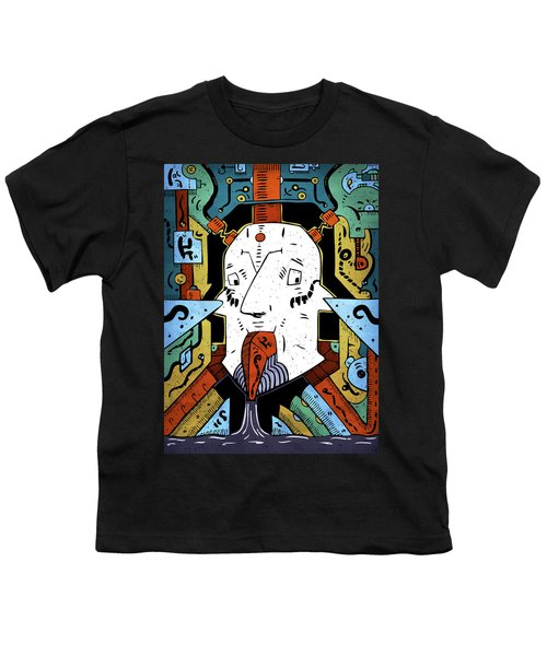 Youth T-Shirt featuring the drawing Petroleum by Sotuland Art