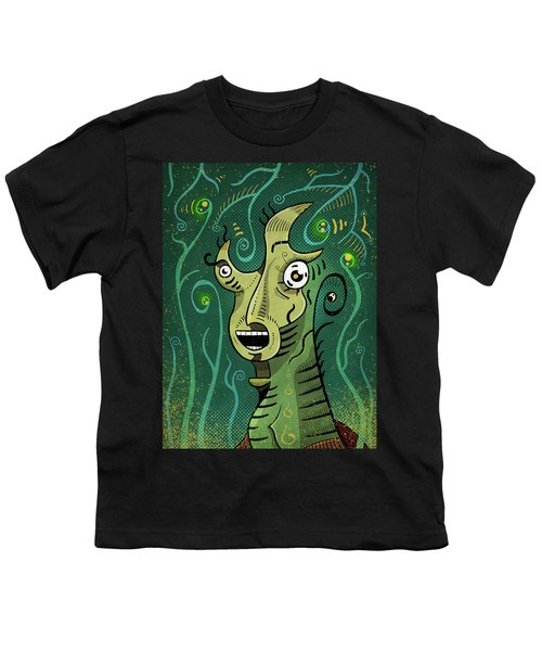 Youth T-Shirt featuring the digital art Scream by Sotuland Art