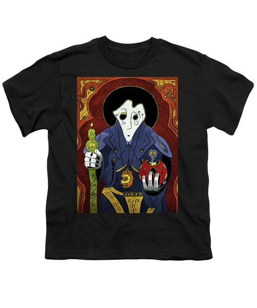 Youth T-Shirt featuring the painting Shadow Priest by Sotuland Art