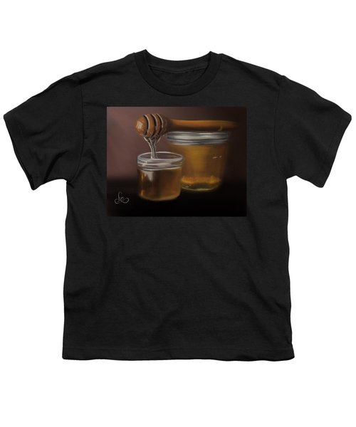 Youth T-Shirt featuring the painting Sweet Honey by Fe Jones