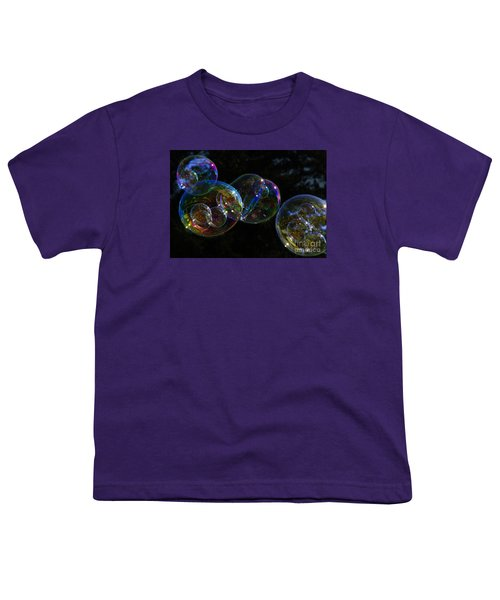 Youth T-Shirt featuring the photograph Dark Bubbles With Babies by Nareeta Martin