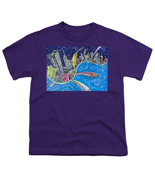 New York City Nights Youth T-Shirt by Jason Gluskin