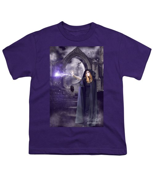 The Spell Is Cast Youth T-Shirt by Linda Lees
