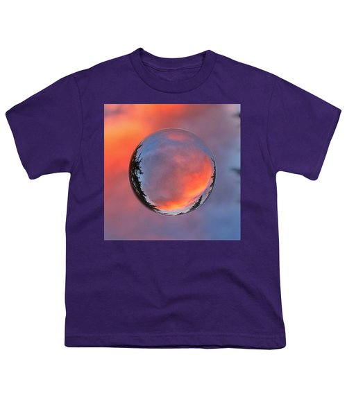 Sunset In A Marble Youth T-Shirt by Anna Porter