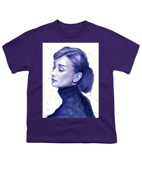 Audrey Hepburn Portrait Youth T-Shirt