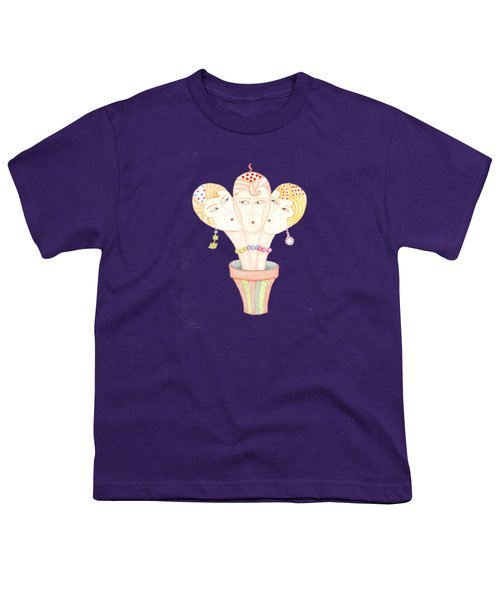 Flower Pot Ladies Youth T-Shirt