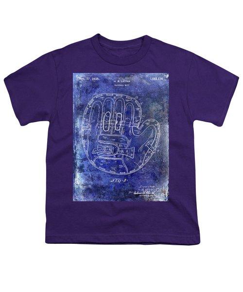 1925 Baseball Glove Patent Blue Youth T-Shirt
