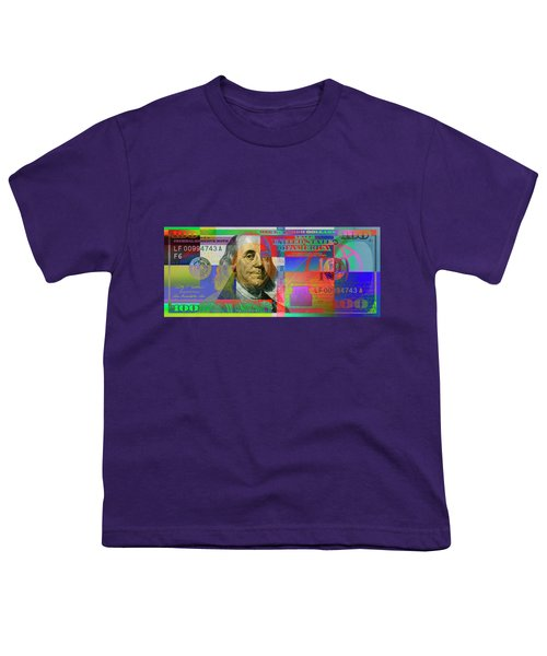 2009 Series Pop Art Colorized U. S. One Hundred Dollar Bill No. 1 Youth T-Shirt