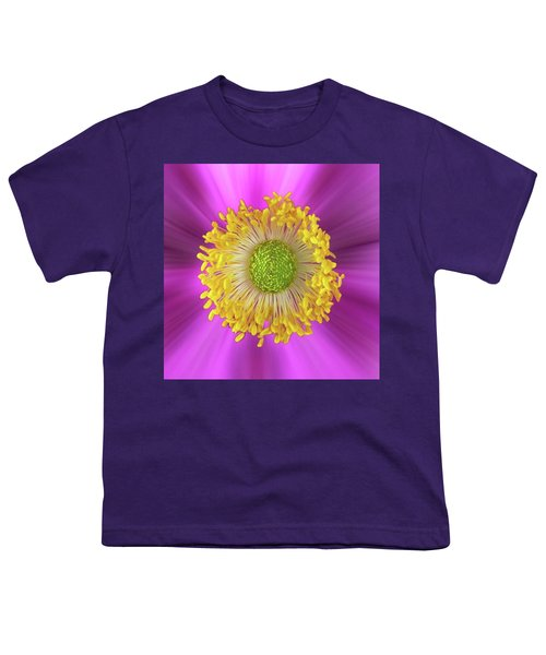 Anemone Hupehensis 'hadspen Youth T-Shirt by John Edwards
