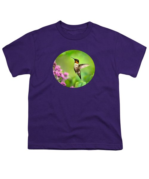 Welcome Home Hummingbird Youth T-Shirt by Christina Rollo