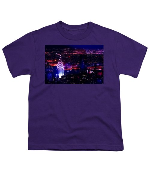 Beautiful Manhattan Skyline Youth T-Shirt by Az Jackson