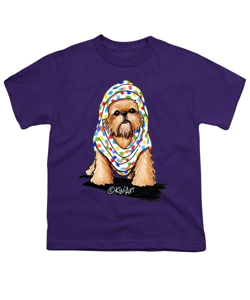 Brussels Griffon Beauty Youth T-Shirt by Kim Niles