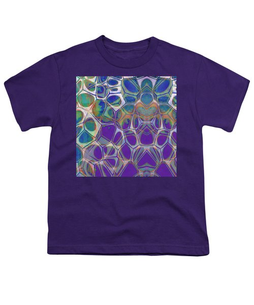 Cell Abstract 17 Youth T-Shirt by Edward Fielding