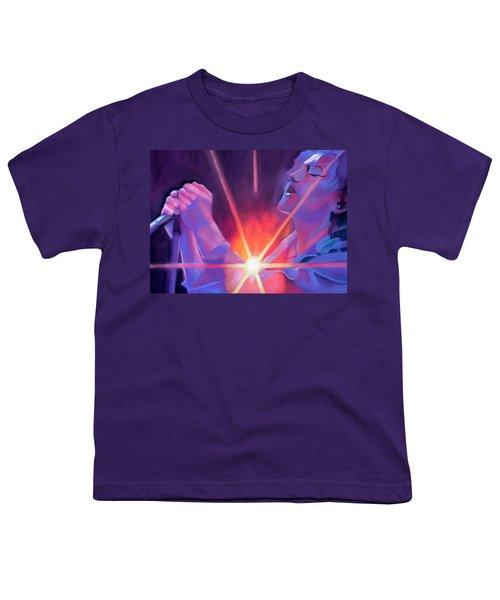 Eddie Vedder And Lights Youth T-Shirt by Joshua Morton