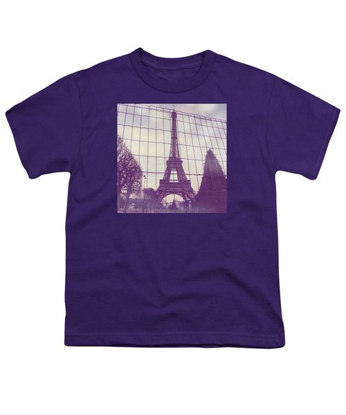 Eiffel Tower Through Fence Youth T-Shirt