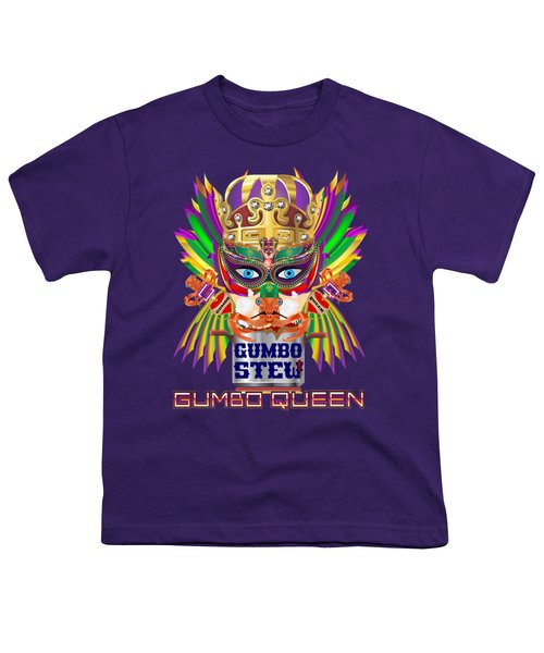 Gumbo Queen 1 All Products  Youth T-Shirt by Bill Campitelle