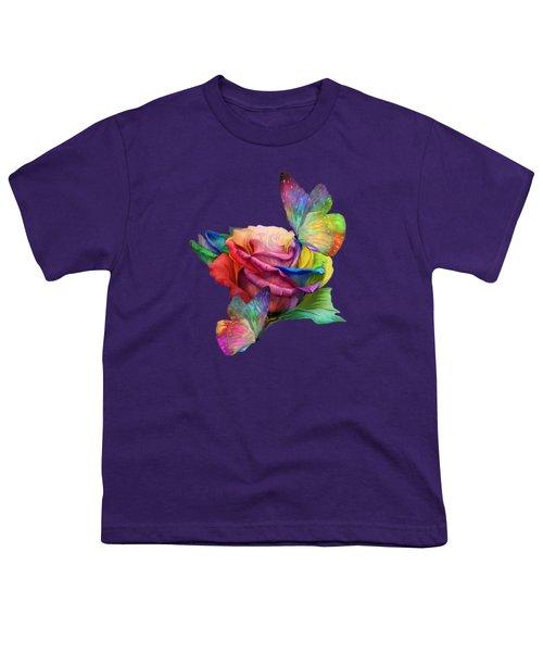 Healing Rose Youth T-Shirt by Carol Cavalaris