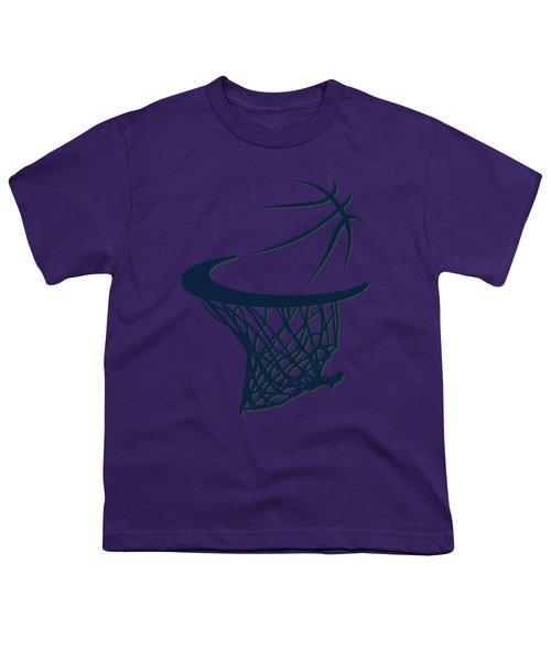 Jazz Basketball Hoop Youth T-Shirt by Joe Hamilton