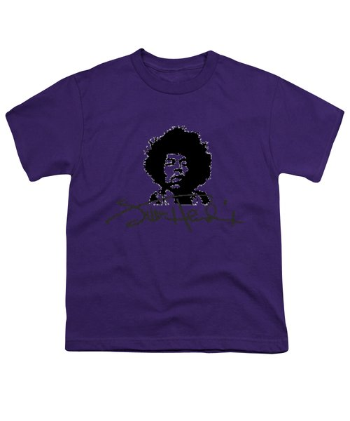 Jimi Hendrix Purple Haze Youth T-Shirt by David Dehner
