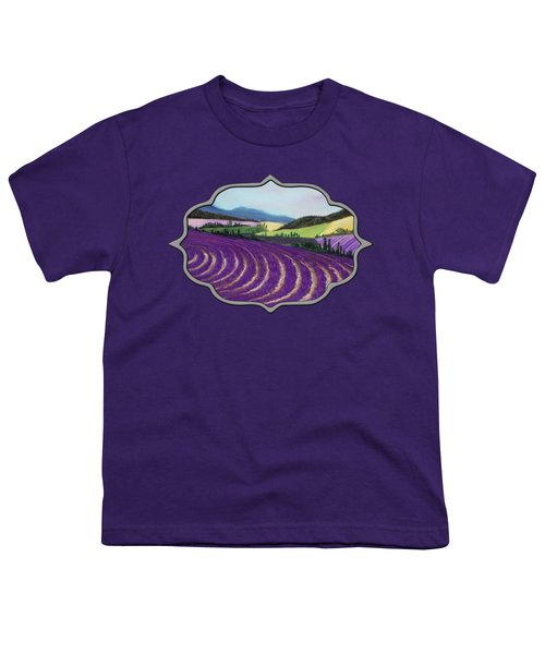 On Lavender Trail Youth T-Shirt