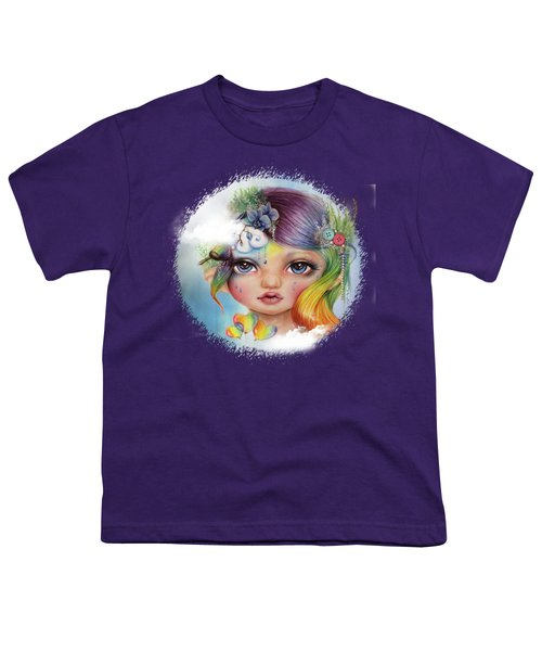 Rainbow Rosalie  Youth T-Shirt by Sheena Pike