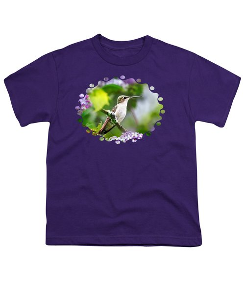 Ruby-throated Hummingbird-1 Youth T-Shirt by Christina Rollo