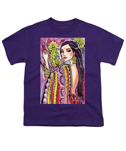 Youth T-Shirt featuring the painting Soul Of India by Eva Campbell