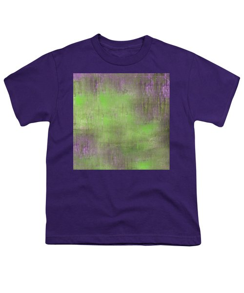Youth T-Shirt featuring the digital art The Green Fog by Mihaela Stancu