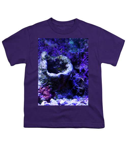 Youth T-Shirt featuring the digital art Uw Coral Stone by Francesca Mackenney